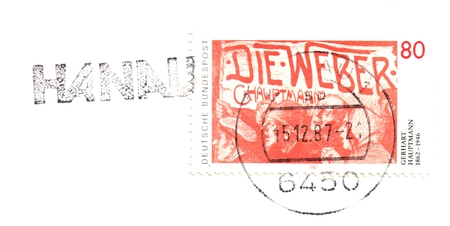 bundespost: Old german stamp of 1987
