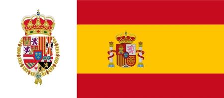 monarchy: Spanish flag with emblem of Philip VI