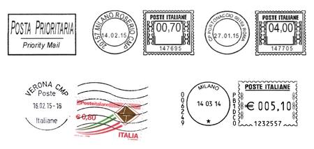 talian: set of talian postmarks 2015