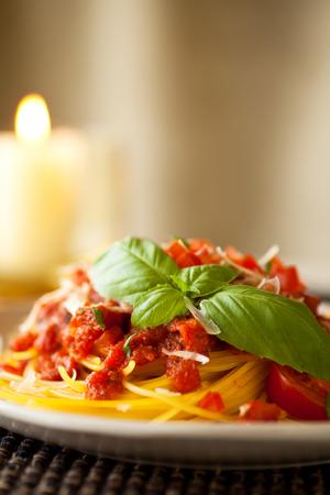 marinara sauce: Gluten free pasta made with quinoa and corn flour. Served with marinara sauce and fresh basil. Shredded cheese.