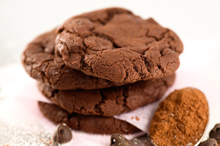 cravings: Double dark chocolate cookies, sugar sprinkles, cocoa powder and chocolate chips.