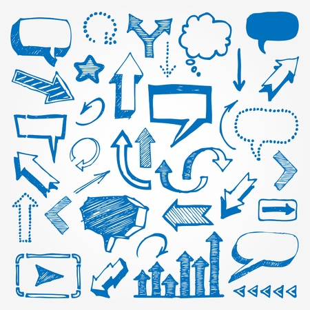Arrows and speech bubbles set Stock Vector - 13727686