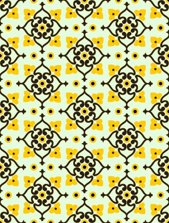 Modern beautiful wallpaper seamless pattern  Vector