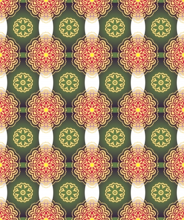 Vintage wallpaper beautiful seamless pattern  illustration Vector