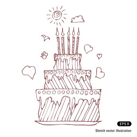 Birthday pie   Vector