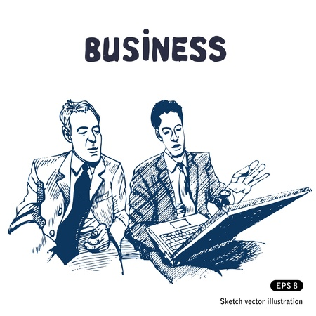 Business discussion Stock Vector - 14059358