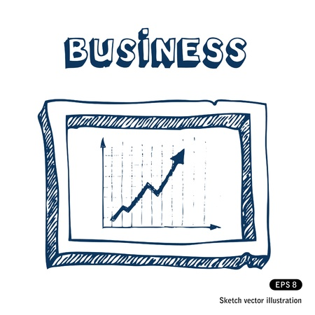 Business graphic and frame  Vector