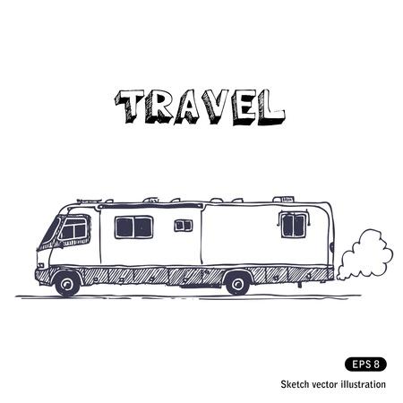 motorhome:   Camper Illustration