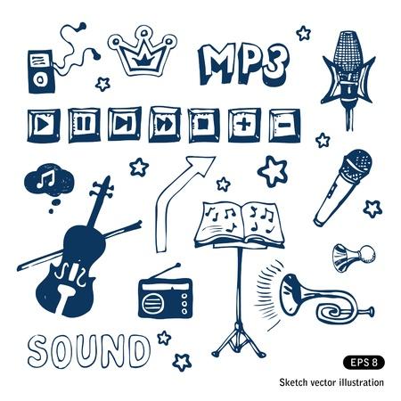 Elementos da música ajustados