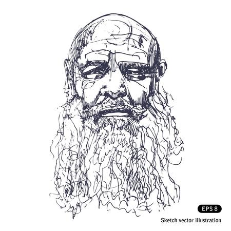 anciano: Viejo hombre con una barba