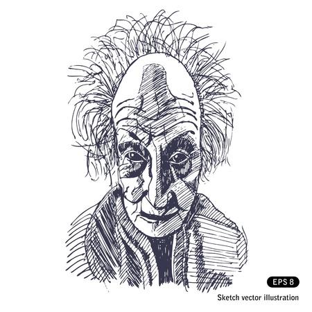 eccentric:   Old somewhat eccentric man
