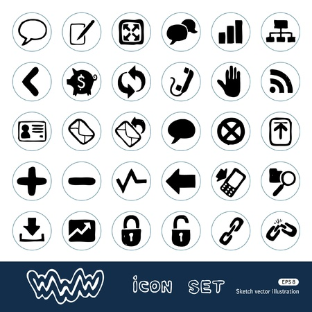 Internet and finance icons set.  Stock Vector - 14957043