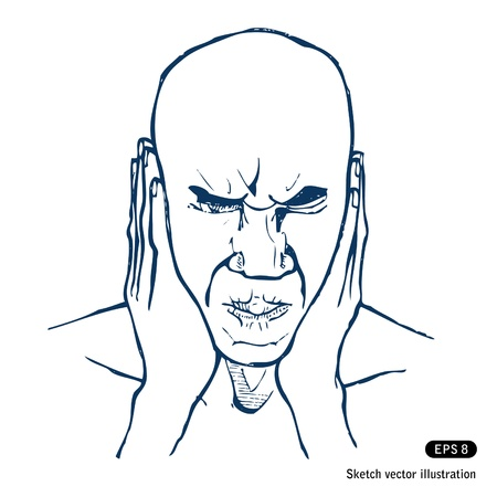 Stressed man.  Stock Vector - 14943473