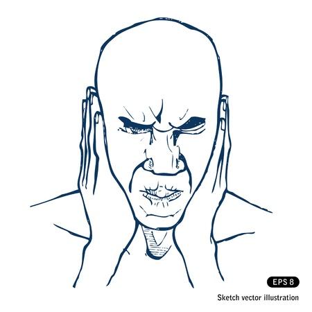 Stressed man. Stock Vector - 14943473
