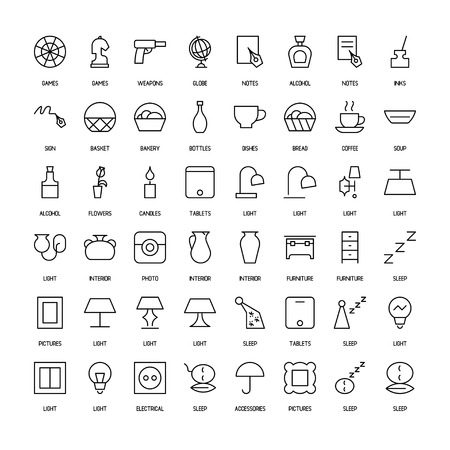 paths: World activities and organizations simple icons set. Paths. Vector illustration
