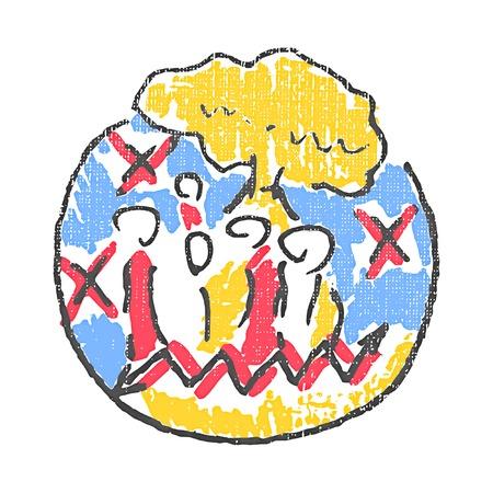 pathology: Social pathology emblem. Textured stamp. Vector illustration Illustration