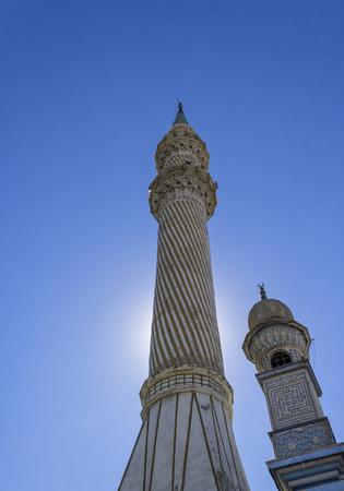 fatih: minarets of the Fatih Mosque in Izmir, Turkey Stock Photo