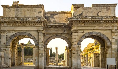 hadrian: Ruins of the ancient city - Efes in Turkey Stock Photo