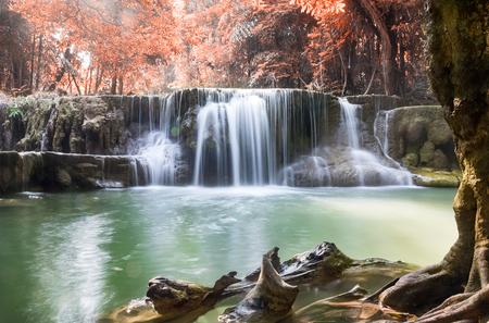 khamin: Waterfall deep forest autumn season
