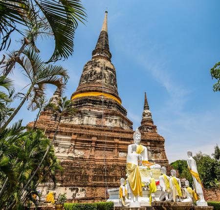 chaimongkol: Temple ancient place of worship famous at wat yaichaimongkol, ayutthaya, thailand