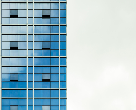 reflect: Building structure mirror reflect blue modern in capital city Stock Photo