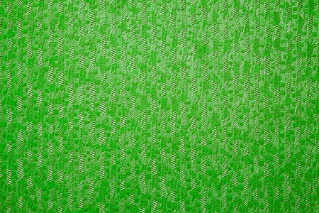 furrow: Textured green from fabric canvas rough fiber