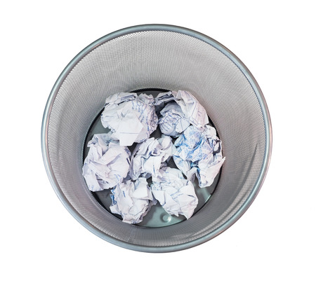 crumple: Bin mesh net pattern trash paper crumple