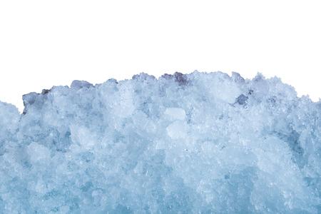 amoníaco: Ice stick cluster on white wall