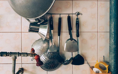 household equipment: Kitchen household equipment in asia kitchen Stock Photo