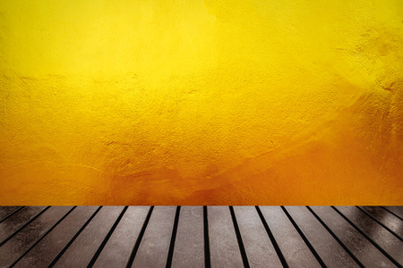 furrow: Table top on wall surface yellow gold furrow textured