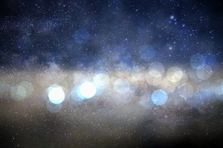 milky way: Blur bokeh circle in galaxy milky way abstract background