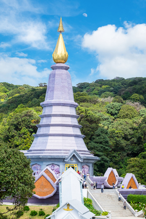 chiangmai: Landscape of pagoda worship beautiful at doi inthanon, chiangmai, thailand Stock Photo
