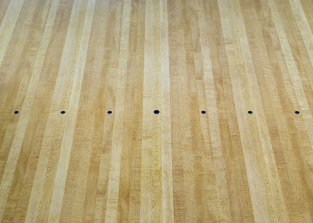 paquet: Parquet wood floor black point of bowling sport background Stock Photo