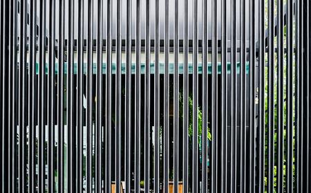 aluminium background: Black steel aluminium structure decorate luxury panel background Stock Photo