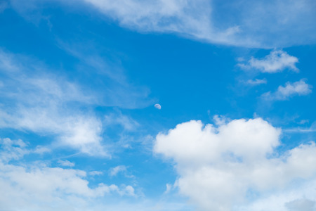 Cloud blue sky fluffy background Stock Photo