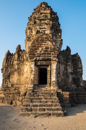 Architecture temple ancient landmark at Pra prang sam yod,lopburi,thailand