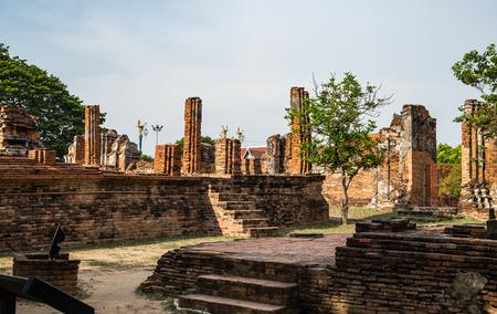 Temple pagoda ancient ruins invaluable at ayutthaya,thailand