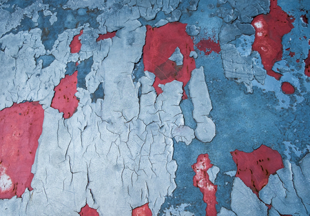 Car patch fracture blue red decline textured background