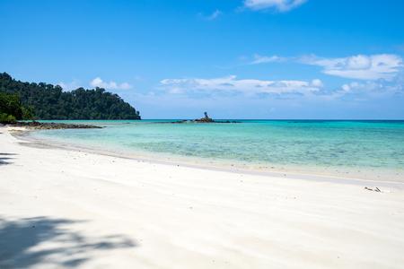 Sea beach colorful white sand smooth at lipe island