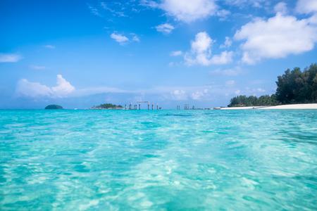 Crystal emerald sea wave ripple in andaman sea at lipe island