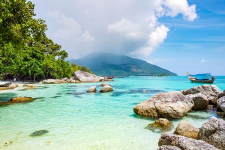 Andaman crystal sea white sand beach at lipe island