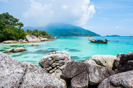 Lipe island tourist attraction wonderful famous of south thailand Stock Photo