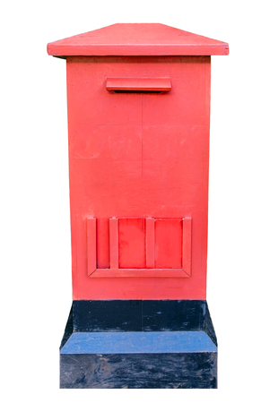 Post office red box,isolated on background