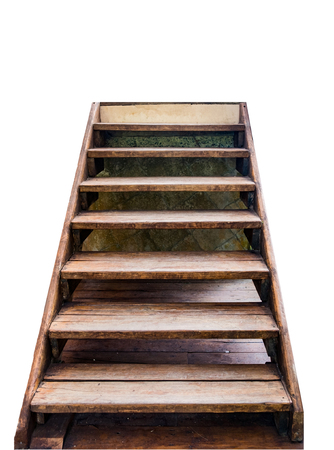 Staircase wooden to top success,on white background