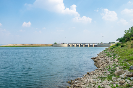 Landscape of Pa Sak Jolasid Dam,Lopburi,Thailand Stock Photo