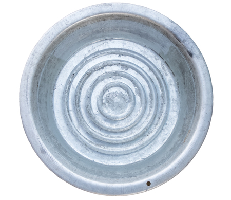 Large stainless enamelware with clean water