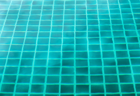 Surface swimming pool emerald clear reflection