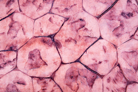 Pattern abstract floor trapezoid crack dark pink