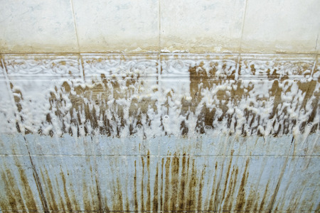 Cleaning chemical liquid of limestone and stain dirty in tub bathroom