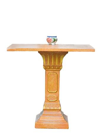 Shrine spirit house base gold with vase,isolated on background